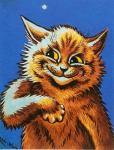 ambiguous_gender black_nose blue_background brown_fur cat feline fur license_info looking_away louis_wain mammal nude painting_(artwork) portrait public_domain semi-anthro simple_background smirk solo star traditional_media_(artwork) whiskers yellow_eyes  Rating: Safe Score: 4 User: purple.beastie Date: September 12, 2015