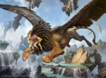 dreadlocks feathered_wings feathers feral flying landscape magic_the_gathering male official_art quadruped signature solo sphinx spread_wings waterfall wings zack_stella  Rating: Safe Score: 1 User: Circeus Date: October 01, 2015