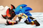 anthro bed body_hair chest_hair cum cumshot duo handjob hedgehog hi_res lying male male/male mammal on_bed on_side one_eye_closed open_mouth orgasm penis sex shadow_the_hedgehog skyeprower sonic_(series) sonic_the_hedgehog  Rating: Explicit Score: 3 User: zqyva Date: February 26, 2016