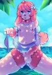 anthro balls beach canine dog dragroon erection girly hi_res humanoid_penis kneeling looking_at_viewer male mammal navel nipples outside penis poodle seaside solo  Rating: Explicit Score: 6 User: EmoCat Date: January 30, 2016