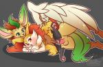 2015 anthro big_dom_small_sub braixen canine cum cum_in_pussy cum_inside duo eeveelution erection feathered_wings feathers female leafeon male male/female male_penetrating mammal nintendo nude penetration penis pokémon pokémon_(species) sex size_difference vaginal vaginal_penetration video_games whimsydreams wings