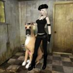 3d animal_genitalia bestiality blonde_hair canine canine_penis clothed clothing dirty dog female feral great_dane hair human interspecies mammal penis vaesark   Rating: Explicit  Score: 4  User: lilicalover  Date: April 08, 2014