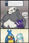 2016 angry anthro arthropod bear beetle big_breasts blue_skin breasts comic dialogue english_text fangs featureless_breasts female fur gem hi_res horn humanoid insect intimidating jealous karrablast larger_female male mammal nervous nintendo panda pangoro pokémon reptile sableye scalie shell shoutingisfun simple_background size_difference smile squirtle surprise text video_games wide_eyed