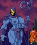2016 areola beastman big_breasts breasts clothed clothing crossgender erect_nipples female lordstevie male masters_of_the_universe muscular muscular_female nipples pubes pussy skeletor skimpy undead  Rating: Explicit Score: 15 User: Robinebra Date: April 23, 2016