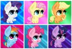 absurd_res applejack_(mlp) big_eyes chibi cute digital_media_(artwork) earth_pony equine fluffy fluttershy_(mlp) friendship_is_magic fur group hair happy hi_res horn horse mammal mane6 mirry92 multicolored_hair my_little_pony pegasus pinkie_pie_(mlp) pony pose purple_fur purple_hair rainbow_dash_(mlp) rainbow_hair rarity_(mlp) squee tongue twilight_sparkle_(mlp) two_tone_hair unicorn winged_unicorn wings  Rating: Safe Score: 8 User: Mirry92 Date: June 21, 2015