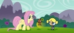 bubbles_(powerpuff_girls) clothing crossover equine female feral fluttershy_(mlp) friendship_is_magic fur group hair horse human long_hair male mammal my_little_pony outside pegasus pink_hair pony powerpuff_girls rodent smile squirrel wings yellow_fur young  Rating: Safe Score: 0 User: QuetzalcoatlColorado Date: April 28, 2016