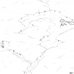 1:1 ambiguous_gender anthro bird's-eye_view camping comic duo_focus fire forest group high-angle_view monochrome outside slypon tent trail tree