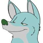 2010 ambiguous_gender animated big_ears blue_fur canid canine feral fox fur green_eyes low_res mammal shenanigans smile solo teeth tongue