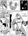 a-side balls bdsm bondage bound canine comic digital_drawing_(artwork) duo eye_mist fox greyscale magic male male/male mammal monochrome muscles ninja penis sound_effects wolf   Rating: Explicit  Score: 1  User: The_Gazi_Pack  Date: February 18, 2015