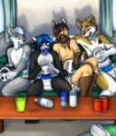 anthro canine cat diaper dog equine feeding_bottle feline group honshu horse husky infantilism jadoube kalida kokuro maho-gato male mammal nintendo pacifier sofa video_games wii wolf  Rating: Safe Score: 3 User: Maho Date: February 16, 2015