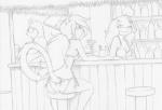 2014 alcohol anthro bethany beverage bikini black_and_white bottles canine cat clothing dog drinks eyewear feline female glasses greyscale group hair jay_naylor lime line_art long_hair long_tail male mammal margarita monochrome pencil_(artwork) ponytail shop sitting smile stool swimsuit traditional_media_(artwork) trixie_(jay_naylor) umbrella   Rating: Safe  Score: 8  User: Noah_Black  Date: May 14, 2014