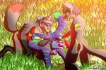 all_fours anal anthro anubis anubislivess anubite azaleesh bandanna bent_over canine claws crissrudolf dawn deity digital_media_(artwork) feline fierotiger fox from_behind fun grass grin group group_sex kneeling licking male male/male mammal paws sex smile sun teeth threesome tiger tongue tongue_out   Rating: Explicit  Score: 0  User: Azaleesh  Date: December 06, 2014