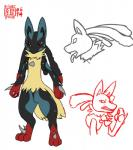 2014 anthro canine chakat-silverpaws claws fox fur lucario male mammal mega_evolution mega_lucario nintendo nude open_mouth plain_background pokémon red_eyes solo spikes tongue video_games   Rating: Safe  Score: 4  User: chakat-silverpaws  Date: June 30, 2014