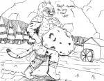 2015 belly big_belly bulge feline female khajiit mammal navel panzerschreckleopard river sword text the_elder_scrolls the_elder_scrolls_v:_skyrim video_games vore weapon   Rating: Questionable  Score: -2  User: PanzerschreckLeopard  Date: April 14, 2015