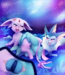 2015 aurora_borealis blue_eyes blush bow clitoris close-up darkmirage dildo double_dildo duo eeveelution espeon espyria eye_contact female female/female feral feral_on_feral flower flower_in_hair fur grass half-closed_eyes nebula night nintendo open_mouth outside penetration plant pokémon purple_eyes purple_fur pussy pussy_juice sex sex_toy star starry_sky tail_bow takara toy vaginal vaginal_penetration vaporeon video_games   Rating: Explicit  Score: 38  User: Jaser  Date: May 15, 2015