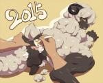 2015 ambiguous_gender anthro anus balls blush caprine curved_horns decko digitigrade disembodied_hand duo green_eyes horizontal_pupils horn looking_back male mammal nude open_mouth penis plain_background shaving sheep solo_focus spread_anus spreading uncut wool   Rating: Explicit  Score: 18  User: chdgs  Date: January 06, 2015