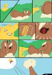 anus brown_eyes brown_fur butt butt_sniffing comic drowzee english_text female fur hi_res lil_scooter56 lopunny lying nintendo nose_to_anus pokémon red_eyes sleeping smelling smile text video_games