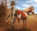 2015 anatomically_correct anatomically_correct_anus anatomically_correct_pussy animal_genitalia anthro anthro_on_feral anus balls bestiality cum cum_in_pussy cum_inside digital_media_(artwork) dripping duo equine eyes_closed female feral from_behind horse horsecock interspecies lizardlars looking_back male male/female mammal outside penetration penis pussy size_difference smaller_male vaginal vaginal_penetration vein zebra   Rating: Explicit  Score: 52  User: Numeroth  Date: March 13, 2015