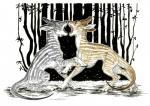 2017 amber_eyes anisis arne fur grey_fur hooves horn mammal open_mouth sitting standing striped_fur stripes tan_fur teeth tongue traditional_media_(artwork)Rating: SafeScore: 2User: MillcoreDate: July 19, 2018