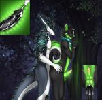 2015 black_fur canine close-up cum dog dragon duo ear_piercing eliana-asato eyes_closed forest fur glowing green_fur green_penis husky internal lime_wuffy male male/male mammal moan neon night nude penis piercing rairyuu sex tree white_fur  Rating: Explicit Score: 9 User: Lulana Date: November 22, 2015