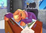 2016 absurd_res chair clothed clothing desk detailed_background dragon earth_pony equine eyes_closed female feral friendship_is_magic hi_res horn horse inside male mammal ms_harshwhinny_(mlp) my_little_pony office pencil pony poster shining_armor_(mlp) sleeping solo sound_effects spike_(mlp) text the-unicorn-lord unicorn work zzz  Rating: Safe Score: 9 User: Robinebra Date: February 07, 2016