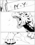 ambiguous_gender anthro comic dragon duo feline feral mammal monochrome negger scalie tiger   Rating: Safe  Score: 2  User: Vinea  Date: February 05, 2015