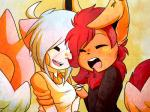 couple cute eeveelution female flareon freeze-pop88 gamefreak nintendo pachirisu pokémon shiny video_games wings  Rating: Safe Score: 3 User: Freeze-pop88 Date: June 10, 2015""
