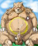 balls bear black_nose blush brown_fur chubby claws clenched_teeth cum cum_on_chest cum_on_ground cum_on_penis cumshot eyes_closed fur kotobuki male mammal nintendo nipples orgasm penis pokémon pokémon_amie sitting teeth ursaring video_games   Rating: Explicit  Score: 5  User: BearFever  Date: March 10, 2015
