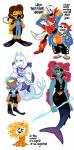 animated_skeleton anthro bandanna bone chips_(food) clothed clothing diving_gear dress fish flippers flowey_the_flower food hair hi_res hook human mammal marine melee_weapon merfolk papyrus_(undertale) pirate polearm potato_chips protagonist_(undertale) red_hair sans_(undertale) scimitar sea_anemone simple_background skeleton smile spear sword toriel undead undersail undertale undyne video_games weapon white_background xamag  Rating: Safe Score: 19 User: Too_damn_filthy Date: January 31, 2016