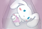 blush canine cinnamon cinnamoroll clothing dog fluffy_fluffy_cinnamoroll fur glass japanese long_ears lying male mammal pixiv sanrio solo underwear white_fur   Rating: Questionable  Score: 3  User: CloverTheRabbit  Date: February 10, 2015