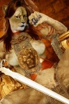"""armor breasts chain_mail_armor claws clitoris edit feline female hitsuji16 ineffective_armor lion looking_at_viewer mammal melee_weapon photo_manipulation photomorph presenting pussy sitting solo spread_legs spreading sword weapon  Rating: Explicit Score: 3 User: DetectiveFicus Date: June 12, 2015"""""""