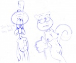 anthro blue_and_white breasts cephalopod duo erect_nipples female male mammal marine monochrome nipples nude rodent sandy_cheeks sketch spongebob_squarepants squid squidward_tentacles squirrel unknown_artist   Rating: Explicit  Score: 3  User: ktkr  Date: January 11, 2010