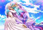 2015 absurd_res cute duo equine female feral friendship_is_magic hi_res horn lyra-senpai mammal my_little_pony princess_celestia_(mlp) twilight_sparkle_(mlp) unicorn winged_unicorn wings  Rating: Safe Score: 12 User: Robinebra Date: June 08, 2015""