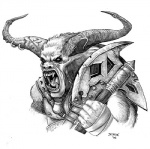 2006 anthro armor axe dungeons_&_dragons furry-specific_piercing greyscale horn horn_piercing male minotaur monochrome piercing plain_background solo symbols unknown_artist warrior weapon white_background wizards_of_the_coast   Rating: Safe  Score: 1  User: Swamp  Date: June 21, 2012