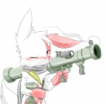 ambiguous_gender blush bullets gun knife nintendo one_eye_closed pokémon pvt._keron ranged_weapon red_eyes rocket_launcher solo video_games weapon wink zangoose   Rating: Safe  Score: 12  User: slyroon  Date: March 09, 2012