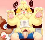 animal_crossing anthro blush breasts canine censored dog female human human_on_anthro interspecies isabelle_(animal_crossing) japanese_text kemono mammal nintendo nipples open_mouth penis pussy sex shocked text translated video_games 河原砂利助  Rating: Explicit Score: 2 User: KemonoLover96 Date: June 14, 2015""