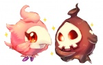 ambiguous_gender avian bird duo duskull feral ghost nintendo onisuu pink_skin pokémon red_eyes simple_background skull sparkle spirit spritzee video_games white_background wings  Rating: Safe Score: 2 User: VillainousVulpix Date: July 17, 2013