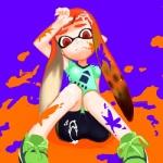 cum cum_on_clothes cum_on_face cum_on_leg female inkling orange_eyes paint solo splatoon   Rating: Explicit  Score: 3  User: Juni221  Date: June 23, 2014