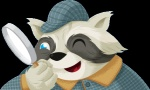 alpha_channel blue_eyes button detective hat magnifying_glass male one_eye_closed plaid raccoon solo wink   Rating: Safe  Score: 0  User: Mario583  Date: December 03, 2011