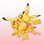 anthro anus blush breasts butt clothing duo erection female halftone_background hi_res looking_back lucknight male male/female nintendo open_mouth pattern_background penis pikachu pokémon saliva simple_background sweat underwear video_games  Rating: Explicit Score: 15 User: Pasiphaë Date: April 24, 2016