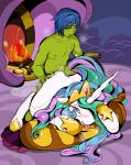 2015 ahegao anthro blush equine fan_character female friendship_is_magic hair horn horse kpm male mammal multicolored_hair my_little_pony pony princess_celestia_(mlp) sex tail_grab  Rating: Explicit Score: -1 User: Osck Date: October 06, 2015