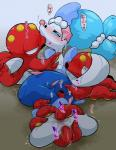 blue_hair blush cephalopod female group hair kageyama kissing mammal marine nintendo octillery octopus pink_nose pinniped pokémon pokémon_(species) primarina pussy sex tentacles video_gamesRating: ExplicitScore: 6User: unleashed00Date: February 13, 2018
