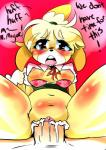 2015 animal_crossing blush bottomless breasts clitoris clothed clothing cum cum_in_pussy cum_inside demi_bra dialogue erect_nipples female first_person_view half-dressed isabelle_(animal_crossing) male male/female nintendo nipples open_shirt penetration pussy rabidcream sex shirt spread_legs spreading vaginal vaginal_penetration video_games  Rating: Explicit Score: 11 User: Count_Fagula Date: June 09, 2015""