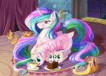 2015 cake dstears equine fan_character female feral fluffle_puff food friendship_is_magic horn mammal my_little_pony princess_celestia_(mlp) smile solo winged_unicorn wings  Rating: Safe Score: 17 User: Robinebra Date: February 07, 2015""