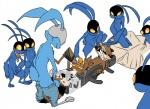 blackjack_o'hare bukkake cum gangbang group group_sex guardians_of_the_galaxy lagomorph male male/male mammal penis rabbit raccoon rocket_raccoon sex voyeur  Rating: Explicit Score: 7 User: Enthusiast Date: July 15, 2015