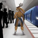 2017 anthro antlers back_muscles backsack balls black_nose brown_fur brown_hair butt clothed clothing digital_media_(artwork) full-length_portrait fur green_eyes hair hi_res horn jackalope kilt lagomorph looking_at_viewer looking_back male mammal multicolored_fur nude portrait presenting presenting_hindquarters public public_nudity rabbit rear_view seductive short_hair smile solo standing subway teeth topless two_tone_fur upskirt wagnermutt white_balls white_furRating: ExplicitScore: 55User: DreamDate: July 09, 2017