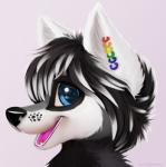 anthro canine colored cute fur hair jamesfoxbr looking_at_viewer male mammal open_mouth painted painting plain_background smile solo teeth tongue   Rating: Safe  Score: 0  User: jamesfoxbr  Date: March 08, 2014
