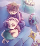 anthro blush cute duo kennen league_of_legends male rintheyordle shuriken sleeping slippers sofa teemo video_games weapon yordle   Rating: Safe  Score: 12  User: Toothless-chan  Date: March 30, 2015