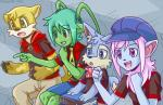aisha_(neopets) anthro book canine clothed clothing colored cub feline female group hair hat lupe_(neopets) lutari male mammal meme naorui_(artist) neopets reaction_guys scarf sitting stadium xweetok young  Rating: Safe Score: 2 User: AnonymousNeopian Date: April 19, 2015
