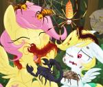 2016 angel_(mlp) arachnid arthropod centipede cutie_mark duo equestria-prevails equine female fluttershy_(mlp) friendship_is_magic fur hair hi_res horse insect long_hair mammal multi_eye multi_limb my_little_pony nightmare_fuel pegasus pink_hair ponification pony red_eyes scared scorpion spider sweat tarantula wasp wings  Rating: Safe Score: 5 User: 2DUK Date: January 11, 2016